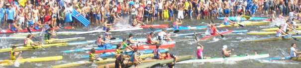 The international canoeing descent of the Sella